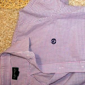 RLL light pink button down shirt